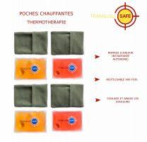 Lot de 4 poches chauffantes - Réutilisables et pratiques - Soulage et apaise les douleurs