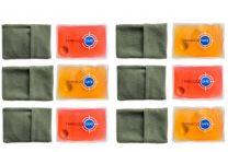 Lot de 6 chaufferettes de Poche - Réutilisables et Pratiques - Housse en microfibre offerte