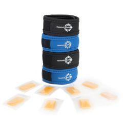 Lot de 4 bracelets antimoustiques + 8 recharges aux huiles essentielles