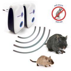 Lot de 2 répulsifs ultrason rats et souris