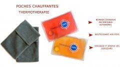 Lot de 2 poches chauffantes - Réutilisables et pratiques - Soulage et apaise les douleurs