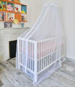 Moustiquaire pour lit bébé et son support universel