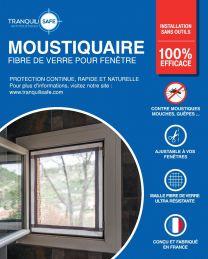 Moustiquaire ajustable fixe en fibre de verre pour fenêtres