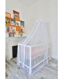 Moustiquaire pour lit bébé TRANQUILISAFE® et son support universel
