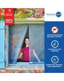 Moustiquaire ajustable aimantée pour fenêtre standard et sur mesure