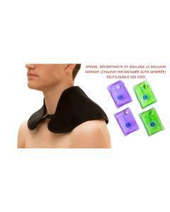 Collier cervical et épaule chauffant nomade TRANQUILISAFE® - 4 poches chauffantes réutilisables offertes