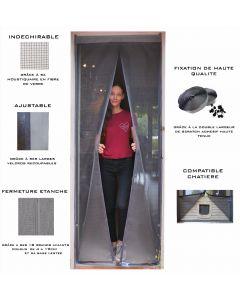 Moustiquaire ajustable aimantée pour portes et portes fenêtres - moustiquaire compatible chatière